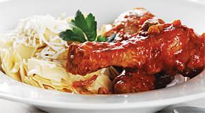 Chicken Drumsticks and Egg Noodle Pasta Recipe