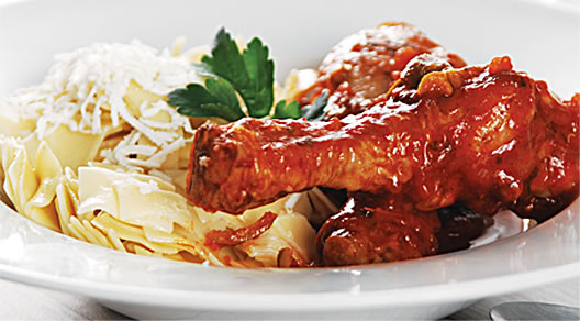 Chicken Drumsticks and Egg Noodle Pasta Recipe