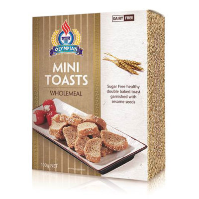 Greek mini toasts - wholemeal
