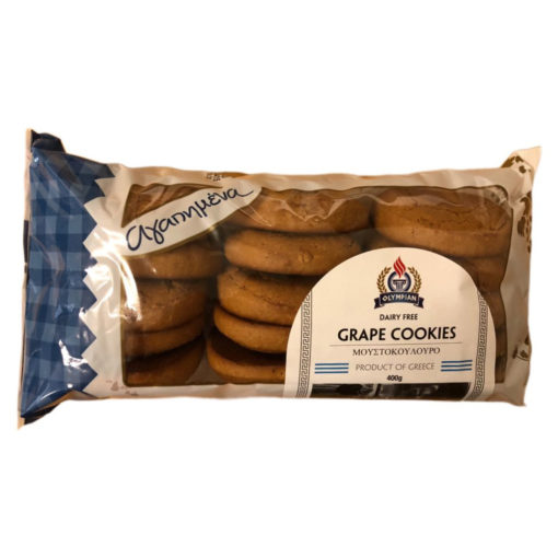 GRAPE COOKIES DAIRY FREE 400g (MOSTOKOULOURO)