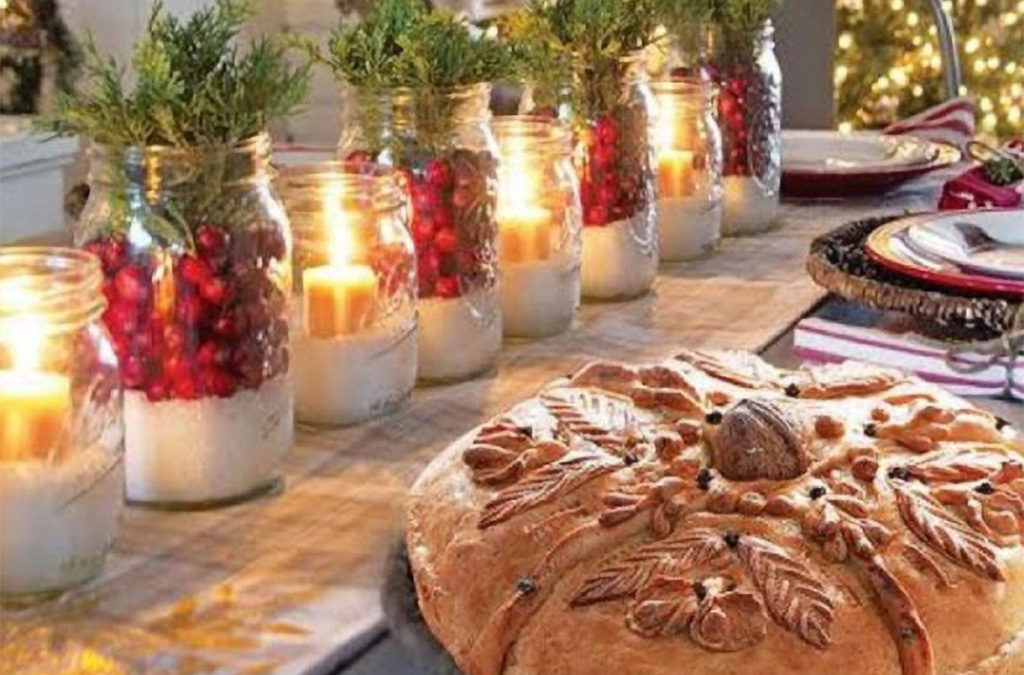 Greek Christmas table