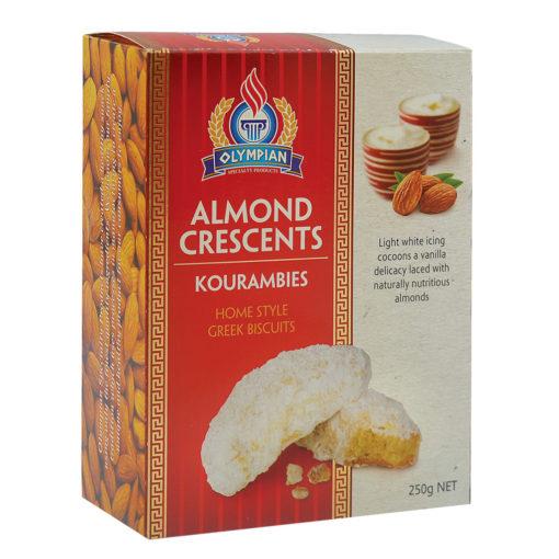 Greek Biscuits - Almond Crescents Kourambies