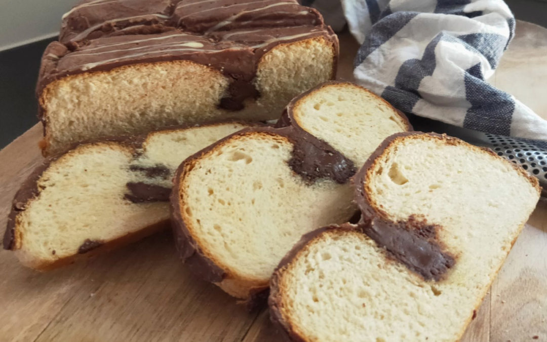Greek Chocolate Tsoureki Sweet Bread